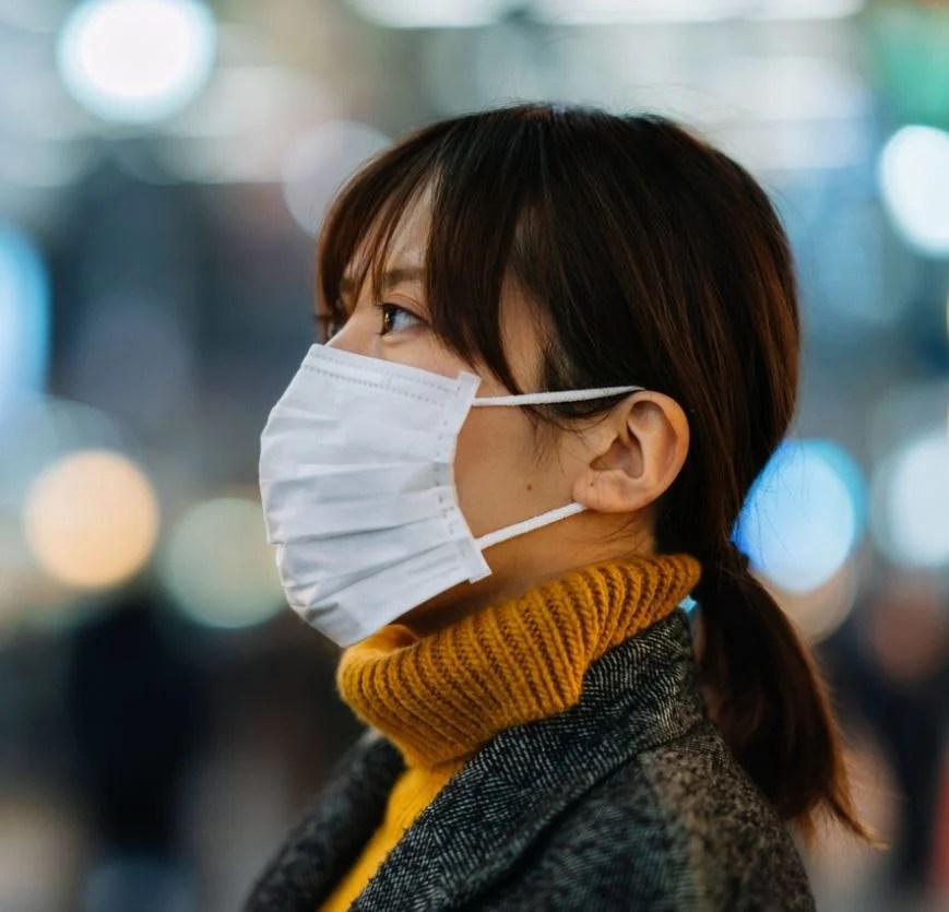 Japanese woman wearing mask