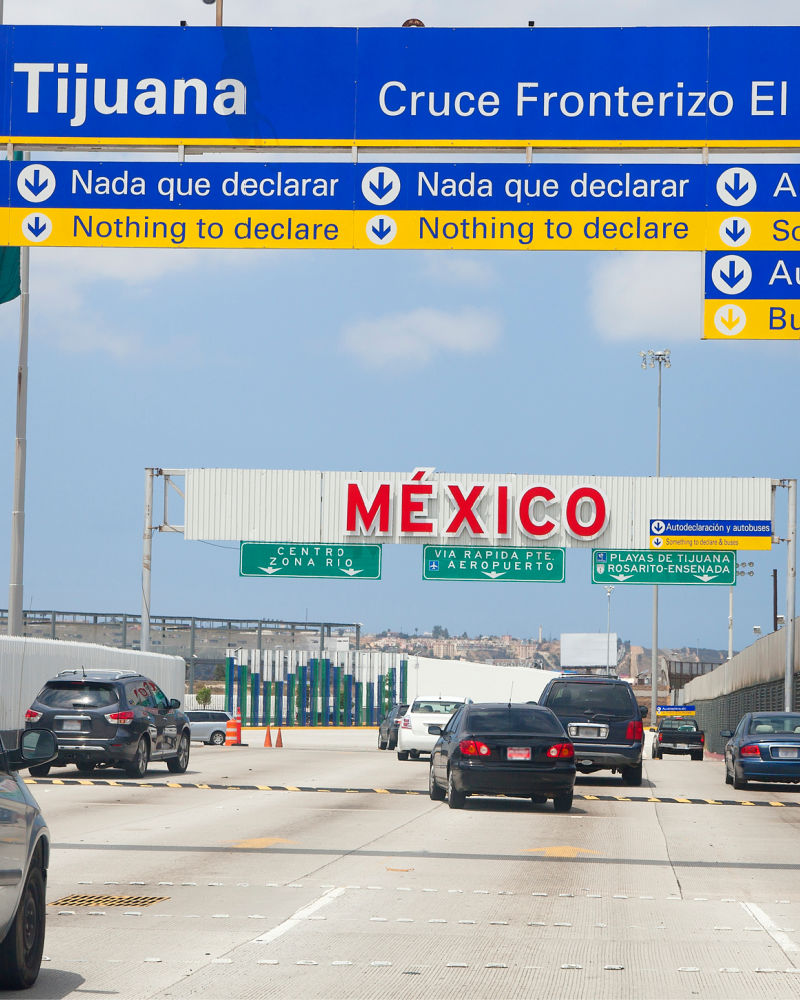 US border with Mexico at San Diego