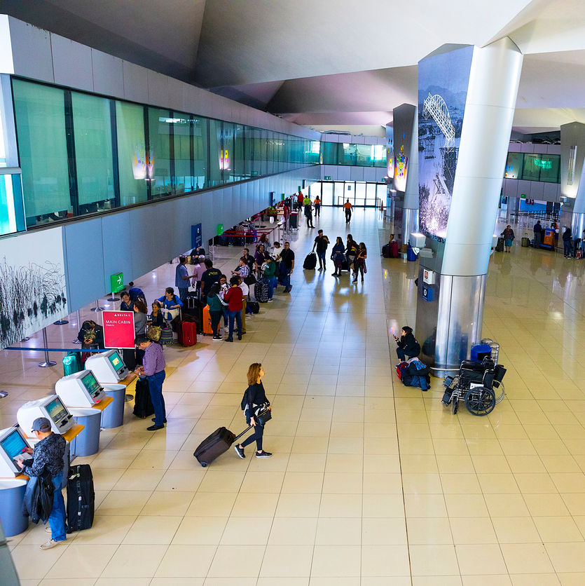 View of Guatemala International Airport check-in area