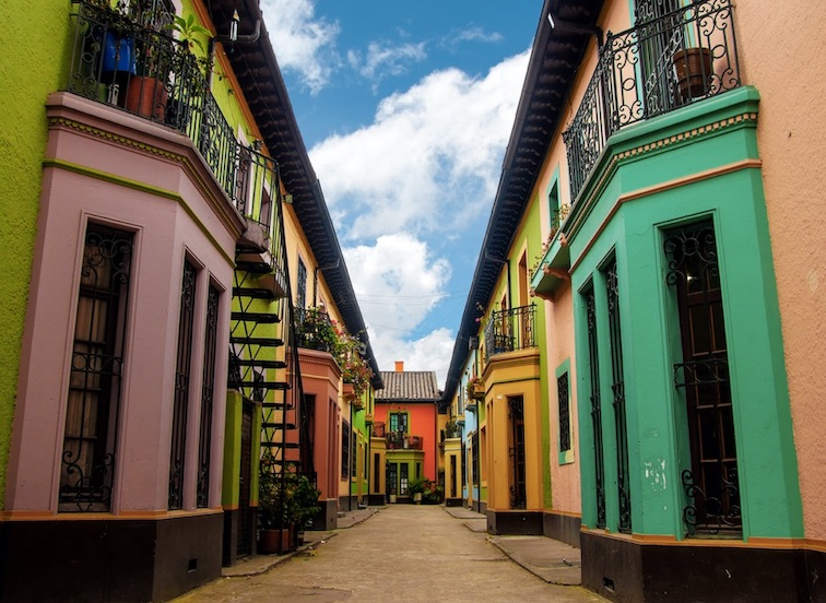 Los Martires neighborhood in Bogota, Colombia