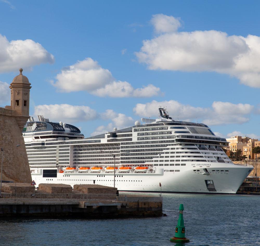 Valletta, Malta - 7 January 2020: MSC Grandiosa in port ...