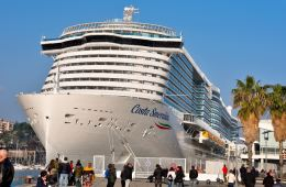 Carnival Corporation owned Costa Cruises relaunched its third large ship in Italy while the U.S. cruising industry still sits idle.