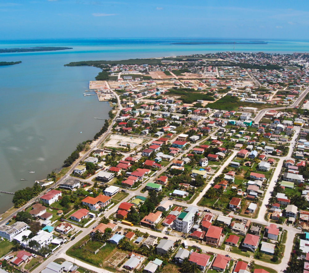 Aerial View of Belize City, Belize