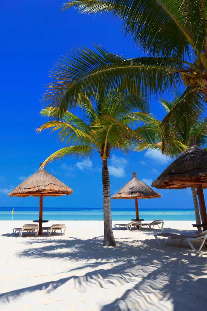 White sand beaches of Cancun, Mexico
