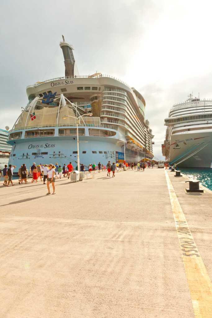 Royal Caribbean ship docked