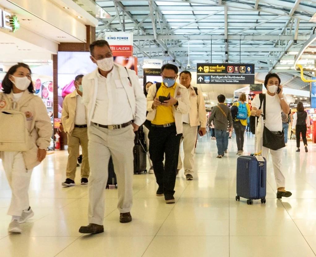 THailand airport tourists arrive