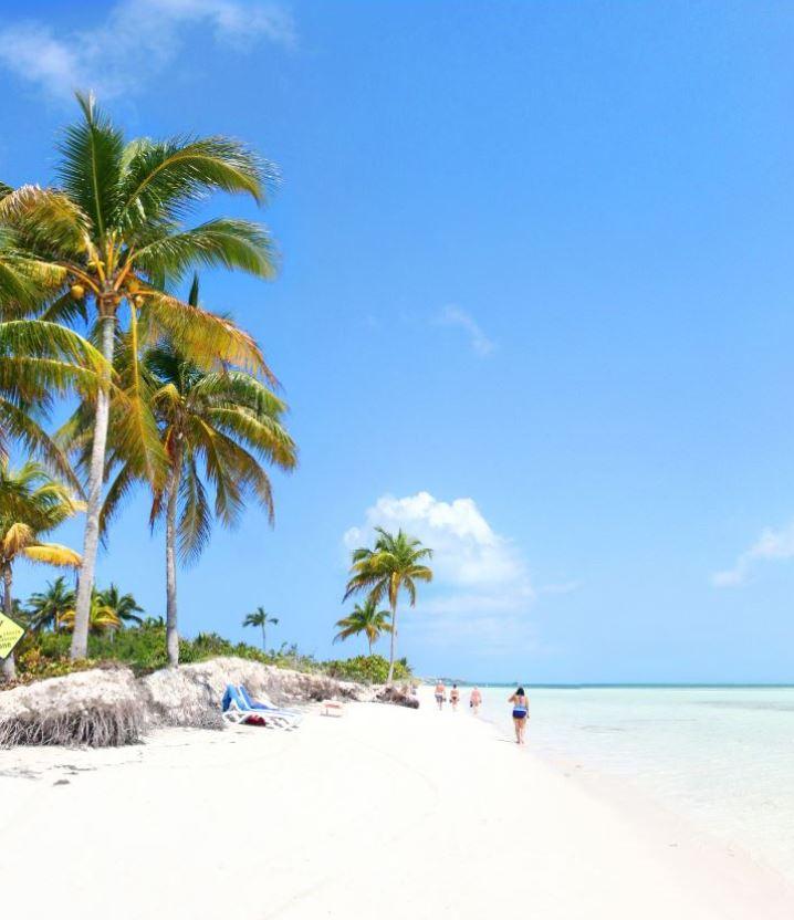 white sand beach cuba