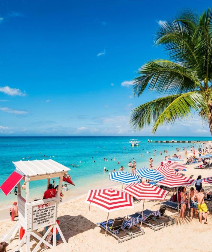 Montego bay jamaica beach