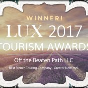 LUX 2017 Tourism Award WINNER