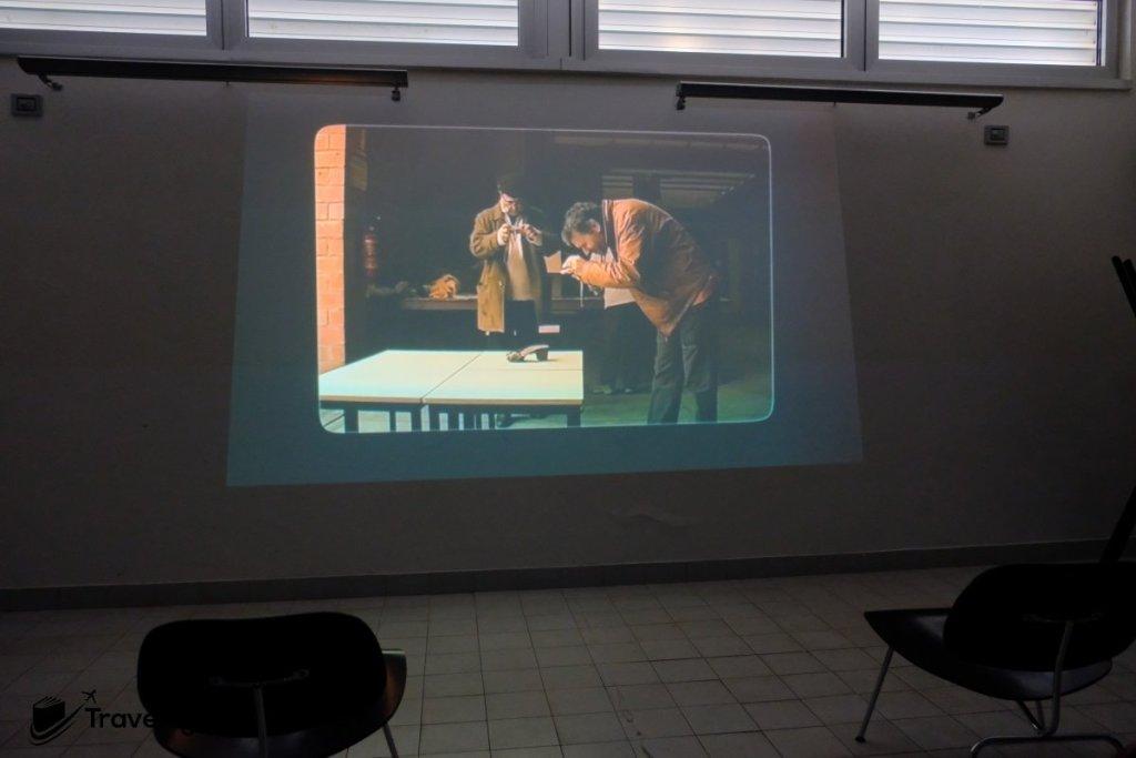場內房間會播放有關這次空難的調查短片,以及博物館建造的種種,可惜只有意大利文旁白。