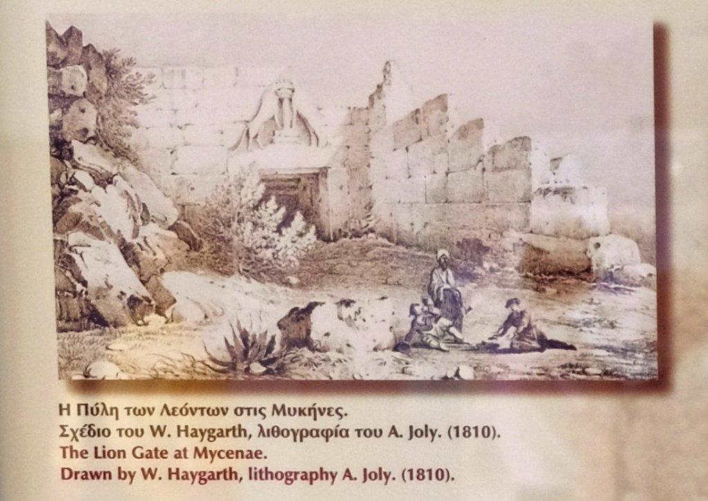 二百多年前的畫作描膾的Lion Gate,可見它一直屹立在大地上,