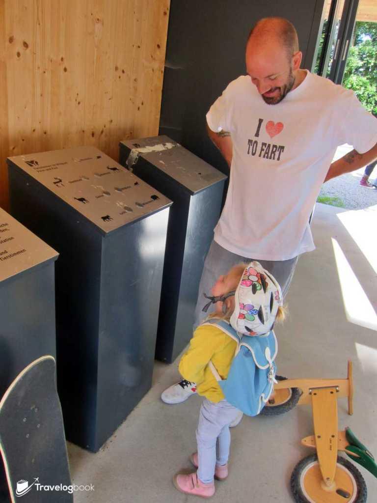 Wildlife Park是親子和教育的好地方,像圖中的機器,按掣便可發出相應的動物叫聲。