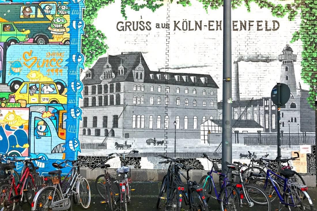 Straatkunst in Ehrenfeld