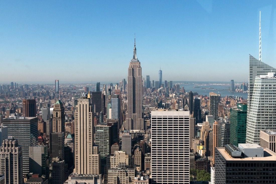 Observatiedekken New York Top of the Rock of One World Observatory