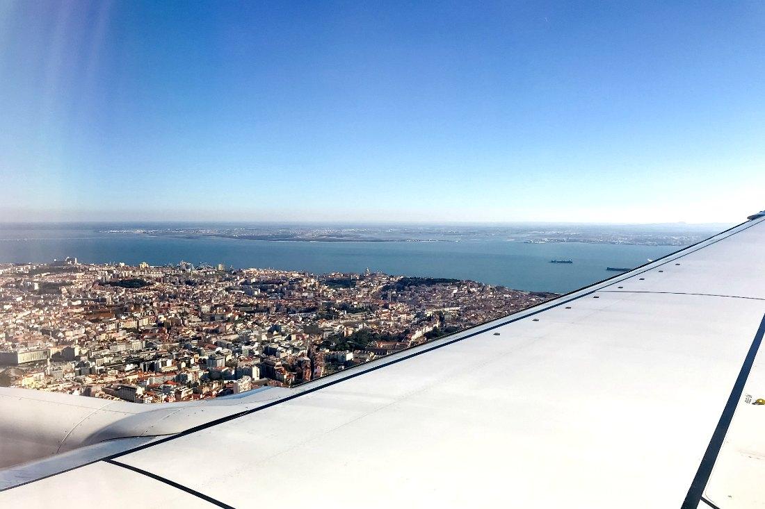 Non-stop vlucht naar Lissabon