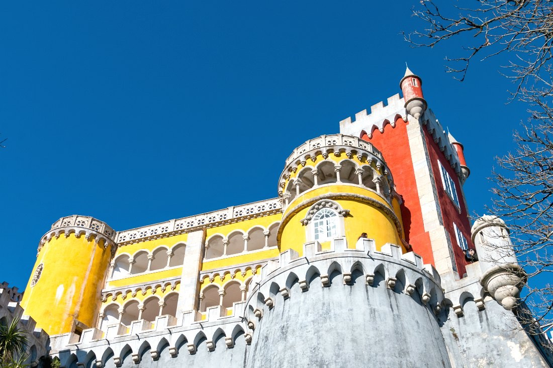 Lissabon in de winter: Pena Palace