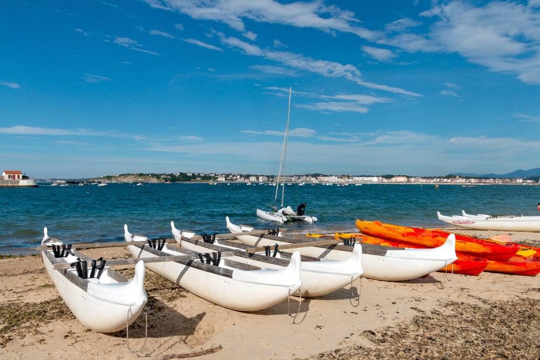 Outrigger kanotocht Atlantische kust Frankrijk