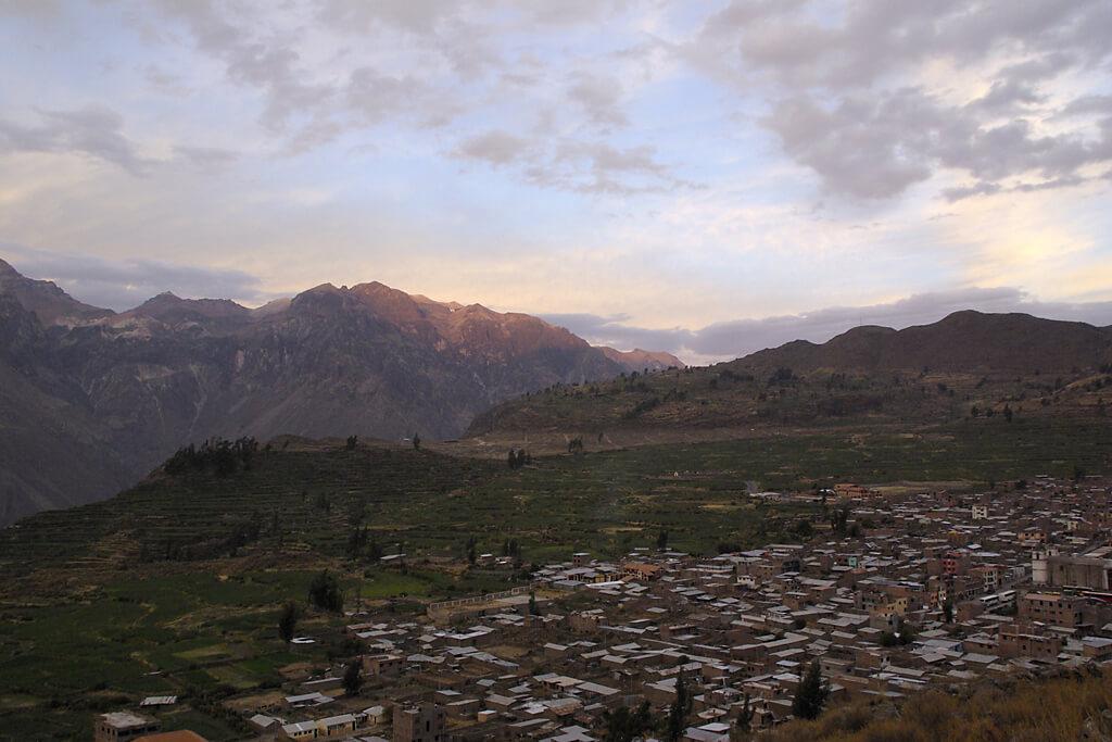 Cabanaconde am Rande des Canyon del Colca