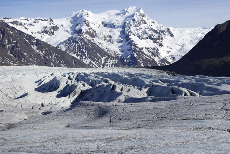 Island Gletscher Svinafelljoekull