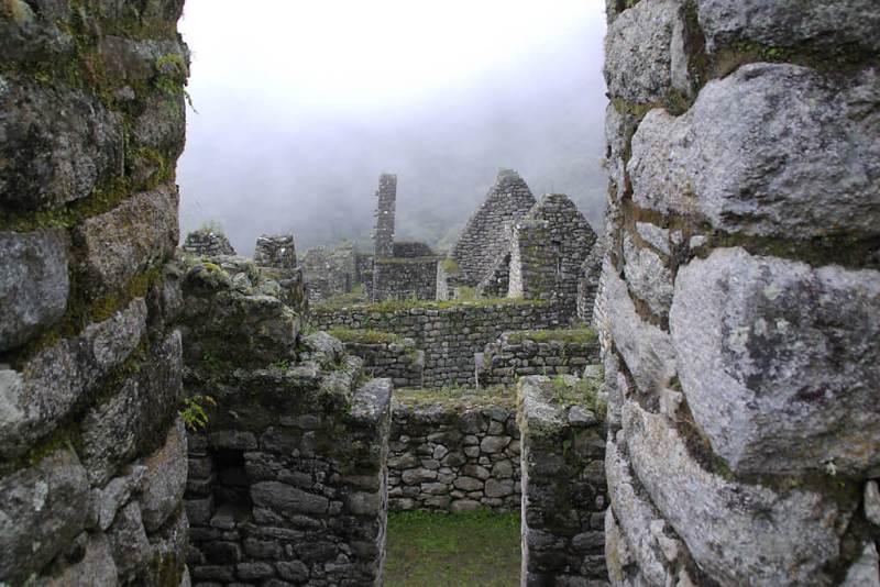 Alte Inkamauern in der Ruine Winay Wayna