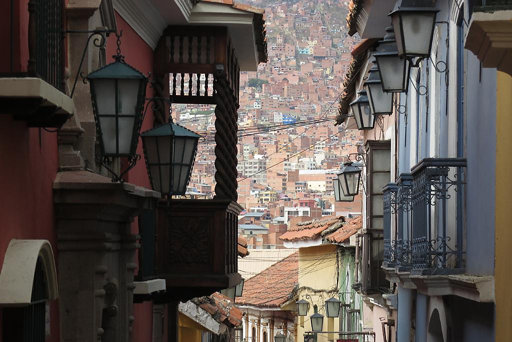 Straßen von La Paz in Bolivien