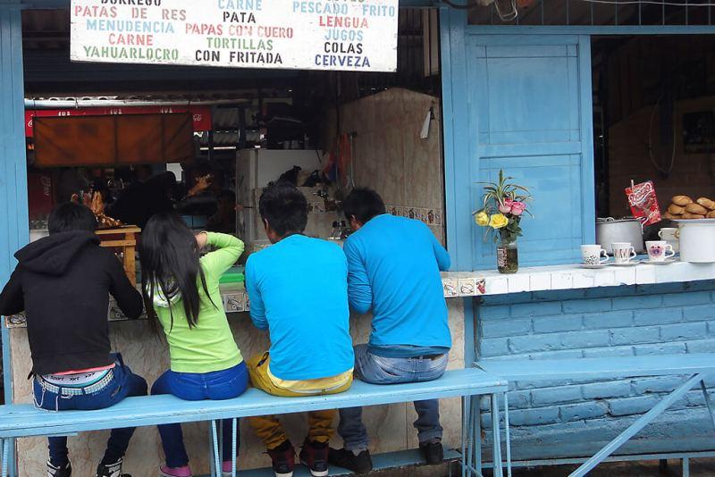 Andenmarkt in Ecuador von Otavalo