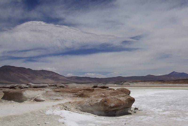 Rote Steine in der Wüste Atakama