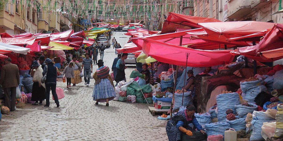 Straßenmärkte von La Paz in Bolivien
