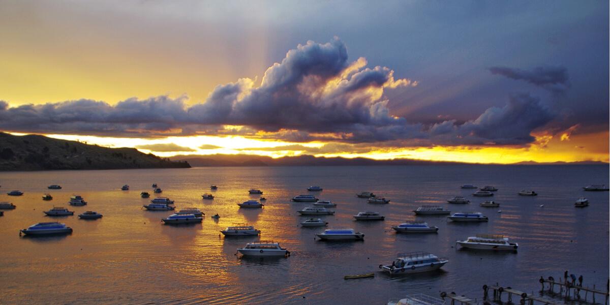 Titicacasee in Copacabana Bolivien