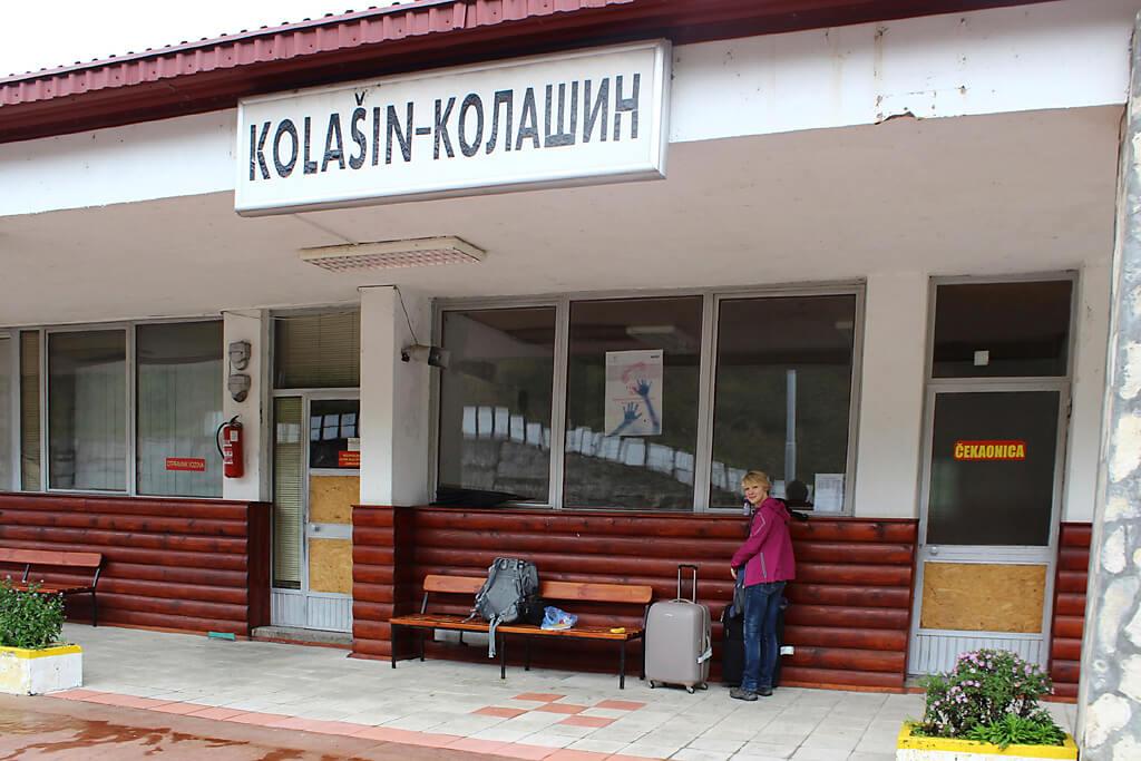 Bahnhof Kolasin in Montenegro