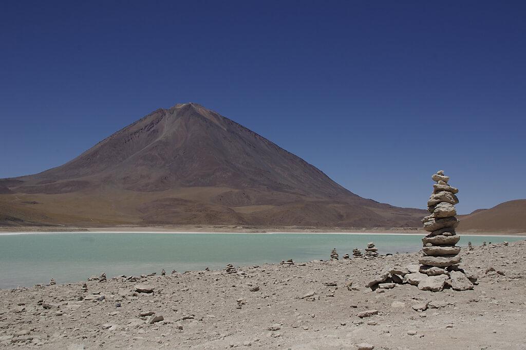 Laguna Verde im Altiplano von Bolivien