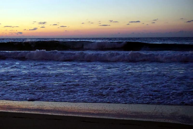 Sonnenuntergang am Meer in San Sebastian