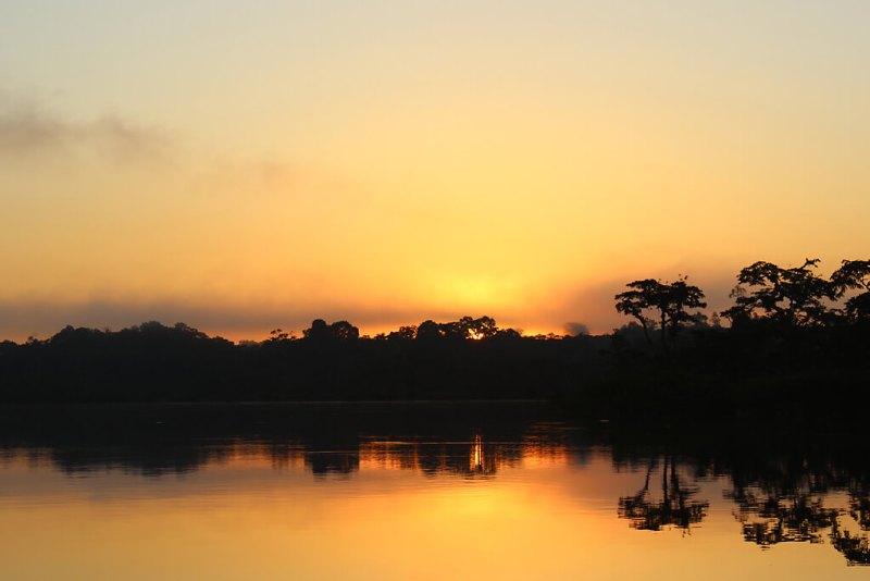 Sonnenaufgang über der Lagune Grande