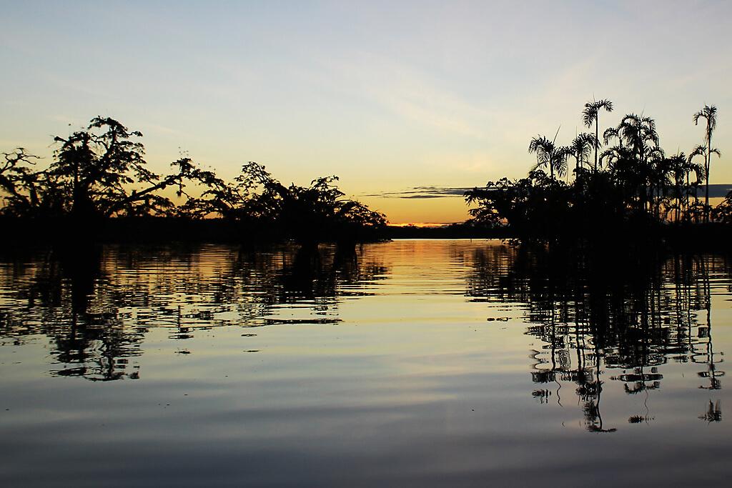 Sonnenuntergang an der Laguna Grande