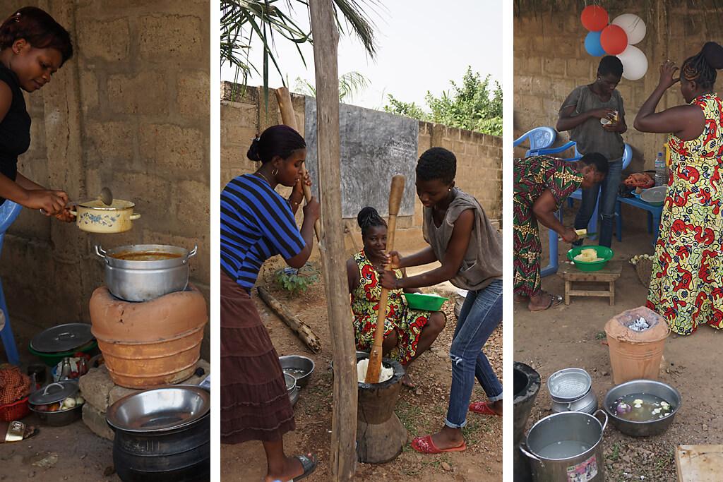 Weihnachtsessen in Togo