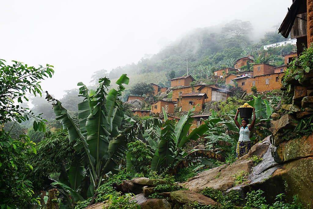 Dorf am Mont Agou bei Kpalimé