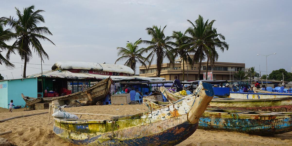 Blick auf den Strand von Lomé