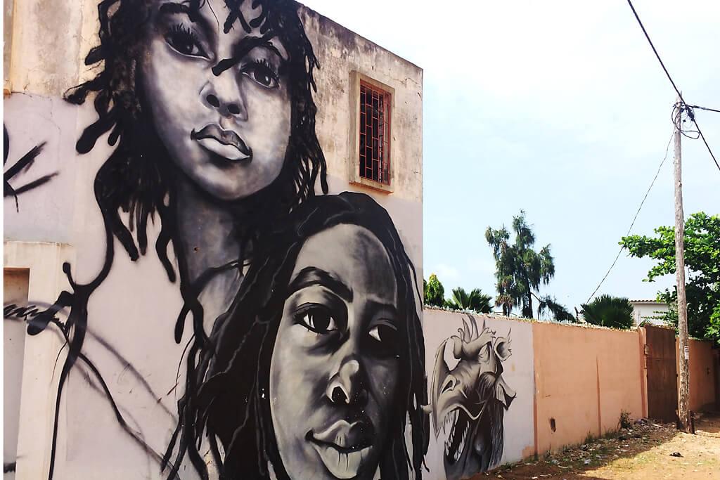 Graffitti in Lomé, Kodjeviakopé