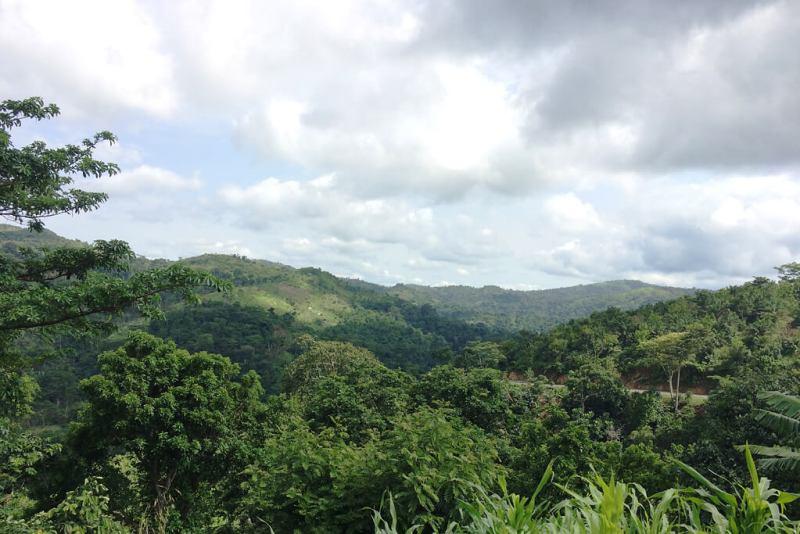 Blick über das Plateau bei Badou, Togo