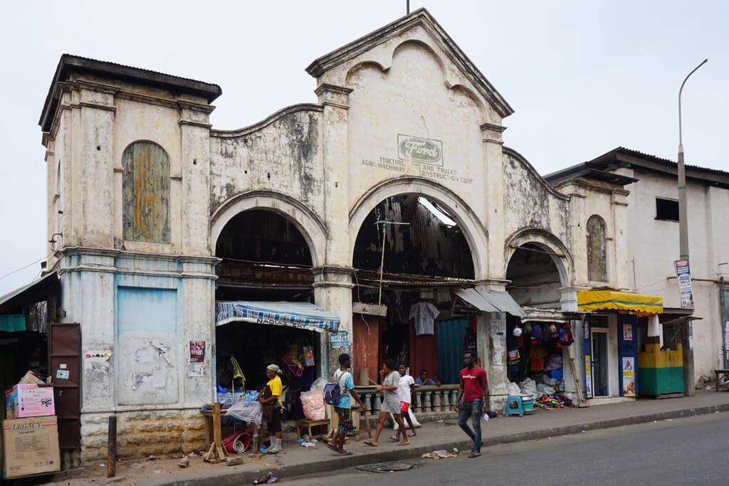 Kolonialarchitektur in Usshuertown, Accra