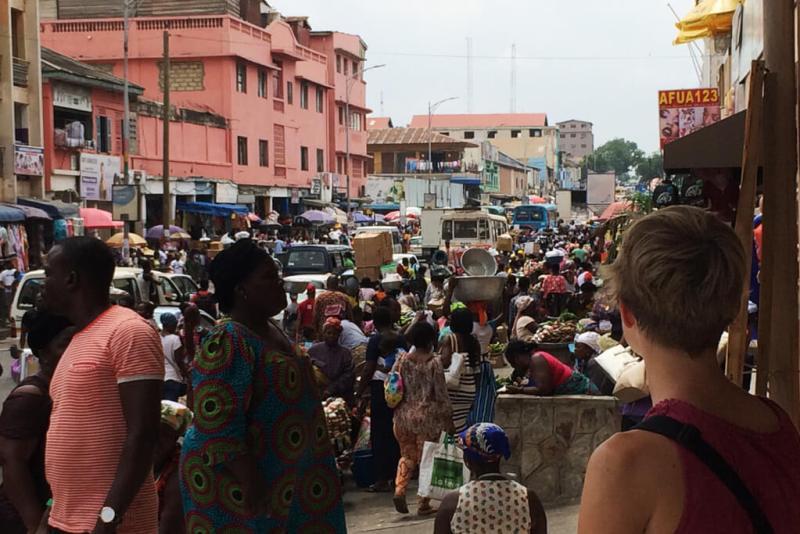 Makola market in Accra, Ghana