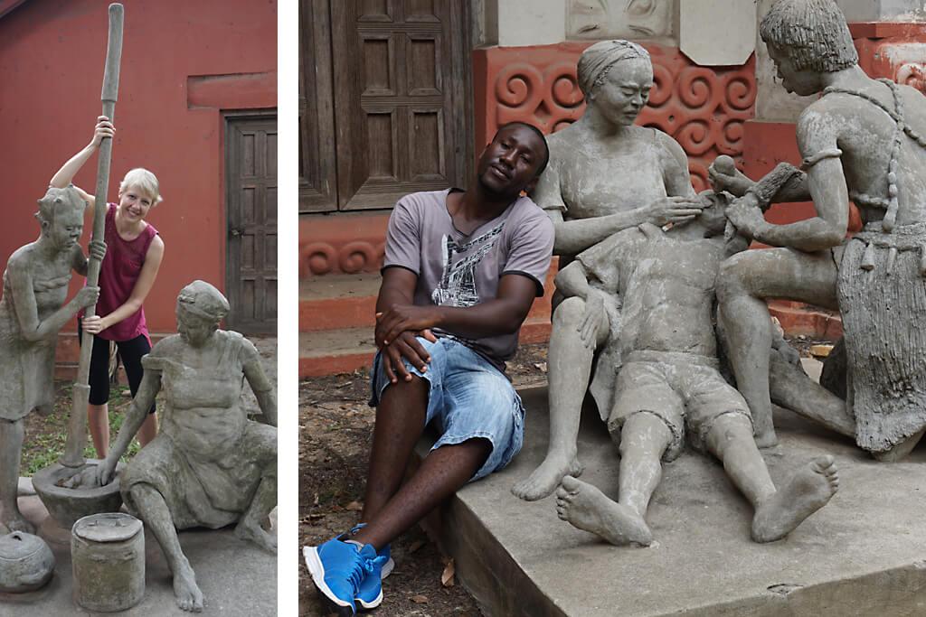 Skulpturengarten des National Museums von Accra