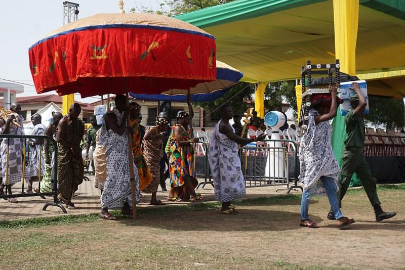 Aufbau zum Königsjubiläum der Ashanti in Kumasi