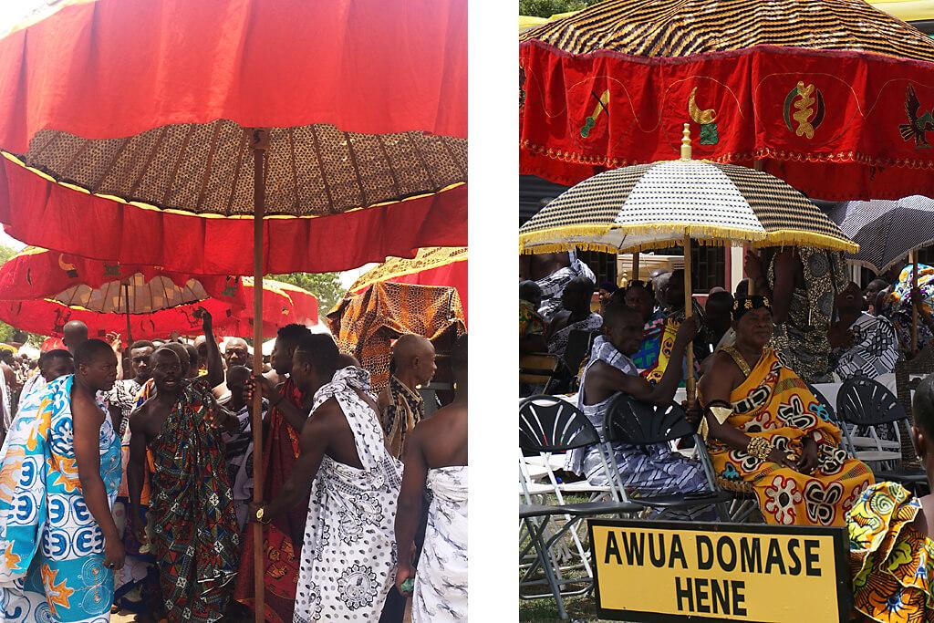 Gäste zum Thronjubiläum der Aschanti in Kumasi in Ghana