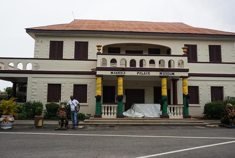 Manhyi palace museum des Ashanti-Königs in Kumasi in Ghana