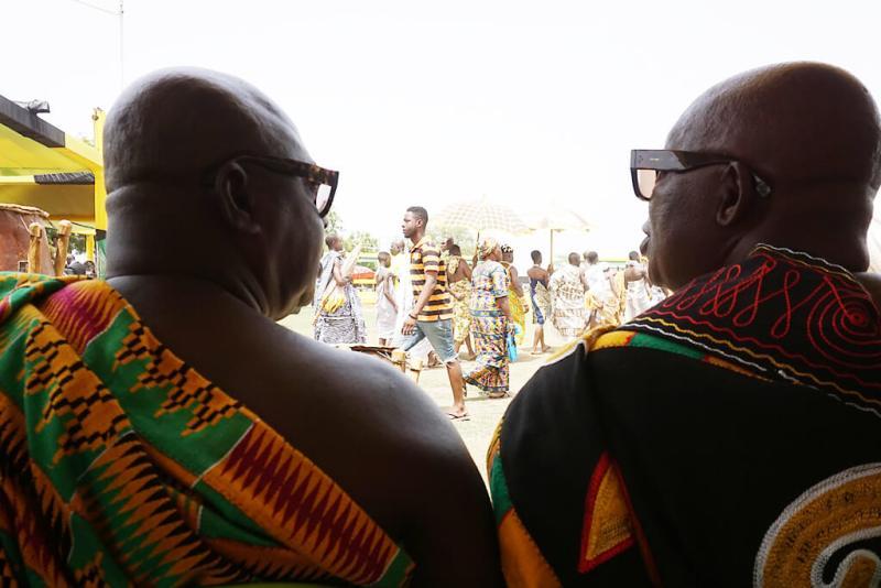 Traditionelle Chefs zum Thronjubiläum des Ashanti Königs in Kumasi