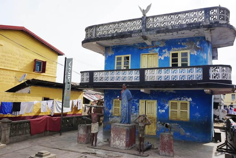 Schrein in Elmina in Ghana