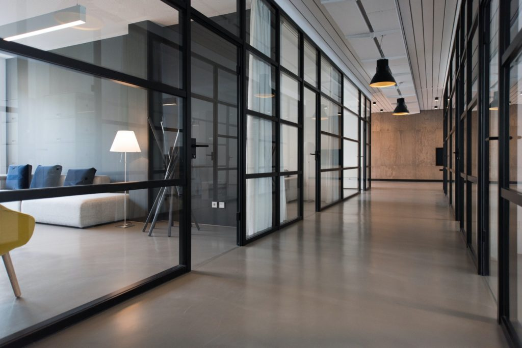 Glass meeting rooms office