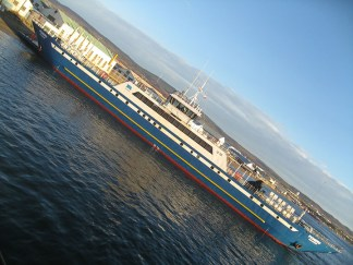 Ankunft mit dem Schiff