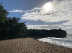 Hiking the Mahaulepo trail